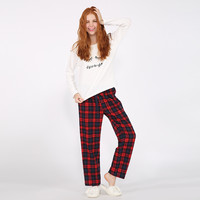 Home Winter Lovely Alphabet Long Sleeve England Style Plaid Set [9576701775]