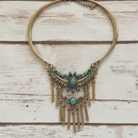 Native Turquoise Layered Necklace