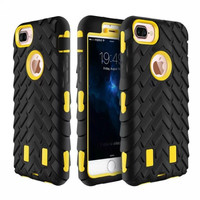 For iphone 7 6 6S plus Silicone PC TPU Case For iphone 4 4s 5 5s SE 6 6s Case Cover Tire Hybrid Robot Rubber Cover
