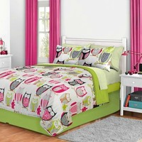Sketchy Owl Bed in a Bag Bedding Set - FULL:Amazon:Home & Kitchen
