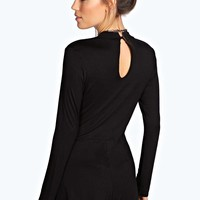 Sarah Turtle Neck Long Sleeved Playsuit