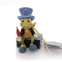 Jim Shore JIMINY CRICKET ON A MATCH BOX Polyresin Mini Disney Tradition 4054286