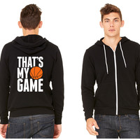 basketball - that's my game Zipper Hoodie