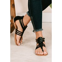 Summer Living Strappy Sandals (Black)