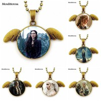 Choker Necklace Bronze Color Necklace Angel Wings Pendant For Men Women Game of Thrones