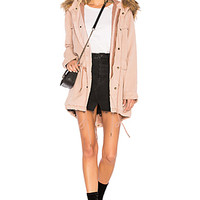 YFB CLOTHING Wells Parka Jacket in Toffee   REVOLVE