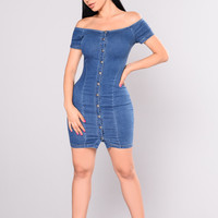 My Boo Bae Denim Dress - Medium