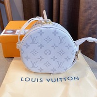 LV 2020 new round cake bag shoulder messenger bag