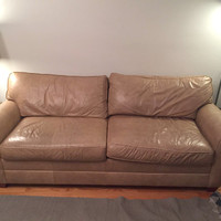 Tan Leather Couch - Ethan Allen - Super Comfy