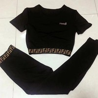 Fendi Women Top Tight pants Two-Piece