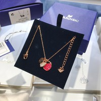 hcxx 1551 Swarovski GINGER Romantic Heart Necklace and Clavicle Chain
