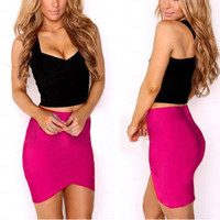 Bandage Rayon Good Elastic Women Skirts Mini Sexy Slim Pencil Clubwear Suitable Casual Formal Candy Multi Color Clothing
