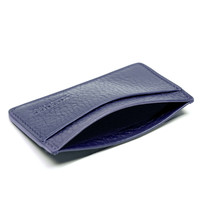 Lotuff Blue Leather Credit Card Wallet