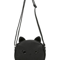 Loungefly Black Cat Face Character Crossbody