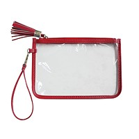 Zipper Pouch Crimson Clear