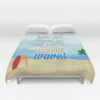 choice waves.. lilo and stitch Duvet Cover by studiomarshallarts