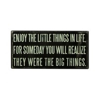 Enjoy Little Things Wooden Box Sign