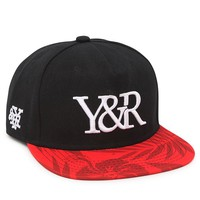 Young & Reckless Minimal Trademark Snapback Hat - Mens Backpack - Black - One