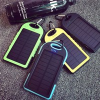Dual USB 8000MAH Large Capacity Solar Power Bank Battery Charger Powerbank Fast Supply With Flashlight For Smart Phones Charging