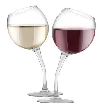 GET TIPSY Set of 2 Tipped Wine Glasses