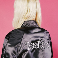Bitchin' Satin Bomber Jacket