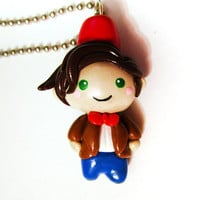 Doctor Who 11th Doctor Fez Chibi Charm Necklace by MadAristocrat