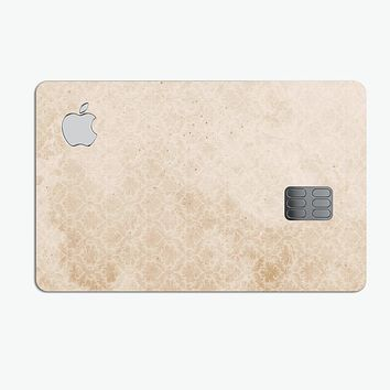 Micro Faded Tan Damask Pattern - Premium Protective Decal Skin-Kit for the Apple Credit Card