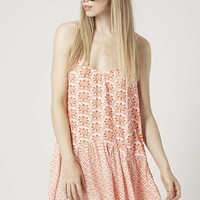 Tile Print Strappy Dress - Topshop