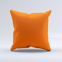 Solid Burnt Orange  Ink-Fuzed Decorative Throw Pillow