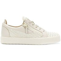 Giuseppe Zanotti Design Men's RM80000002 Beige Leather Sneakers
