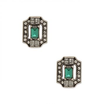 Sole Society Jeweled Octagon Stud Earrings