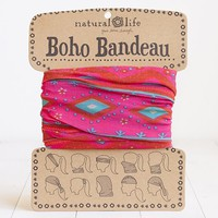 Boho Bandeau Red,Turquoise and Pink