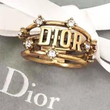 Dior Classic Hot Sale Women Retro Ring Accessories Jewelry