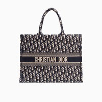 Dior Book Tote bag in embroidered Dior Oblique canvas - Dior