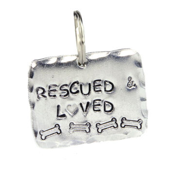Rescued and Loved Dog Tag