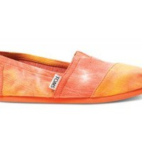 Orange and Yellow Tie Dye Youth Classics | TOMS.com