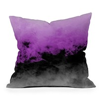 Caleb Troy Zero Visibility Radiant Orchid Throw Pillow