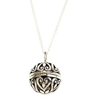 """One Kings Lane - Close to Your Heart - 3/4"""" Silver Ball Locket, 18""""Chain"""