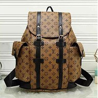 Louis Vuitton Trending Women Men Leather Bookbag Shoulder Bag Handbag Backpack