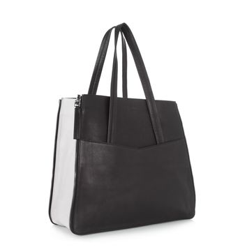Carrera Shopper Black and Cream Leather