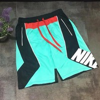 Nike Nike Retro Blue Black Stitching Shorts Tri-Color Multi-Line Webbing Pants
