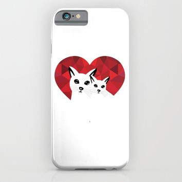 Cats in love iPhone & iPod Case by Sagacious Design