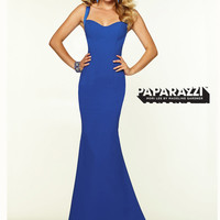 Open Back Fitted Paparazzi Prom Dress By Mori Lee 97099