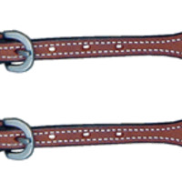 Saddle Barn Russet Spur Strap with Rawhide