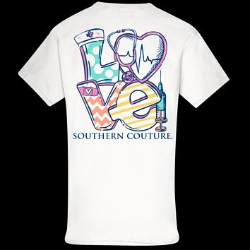 Southern Couture Classic LOVE Nurse T-Shirt