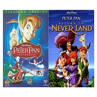 Walt Disney's Peter Pan 1&2 DVD Set 2 Movie Collection