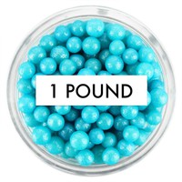 Pearly Blue Sugar Pearls 1 LB