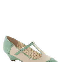 Bait Footwear Pastel Care to Dance? Wedge in Mint