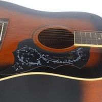 """Bird&Flowers Printed Electric Acoustic Guitar Pickguard For 41"""" Size Guitar Plastic Pick Guard Bird  For Acoustic Guitar"""