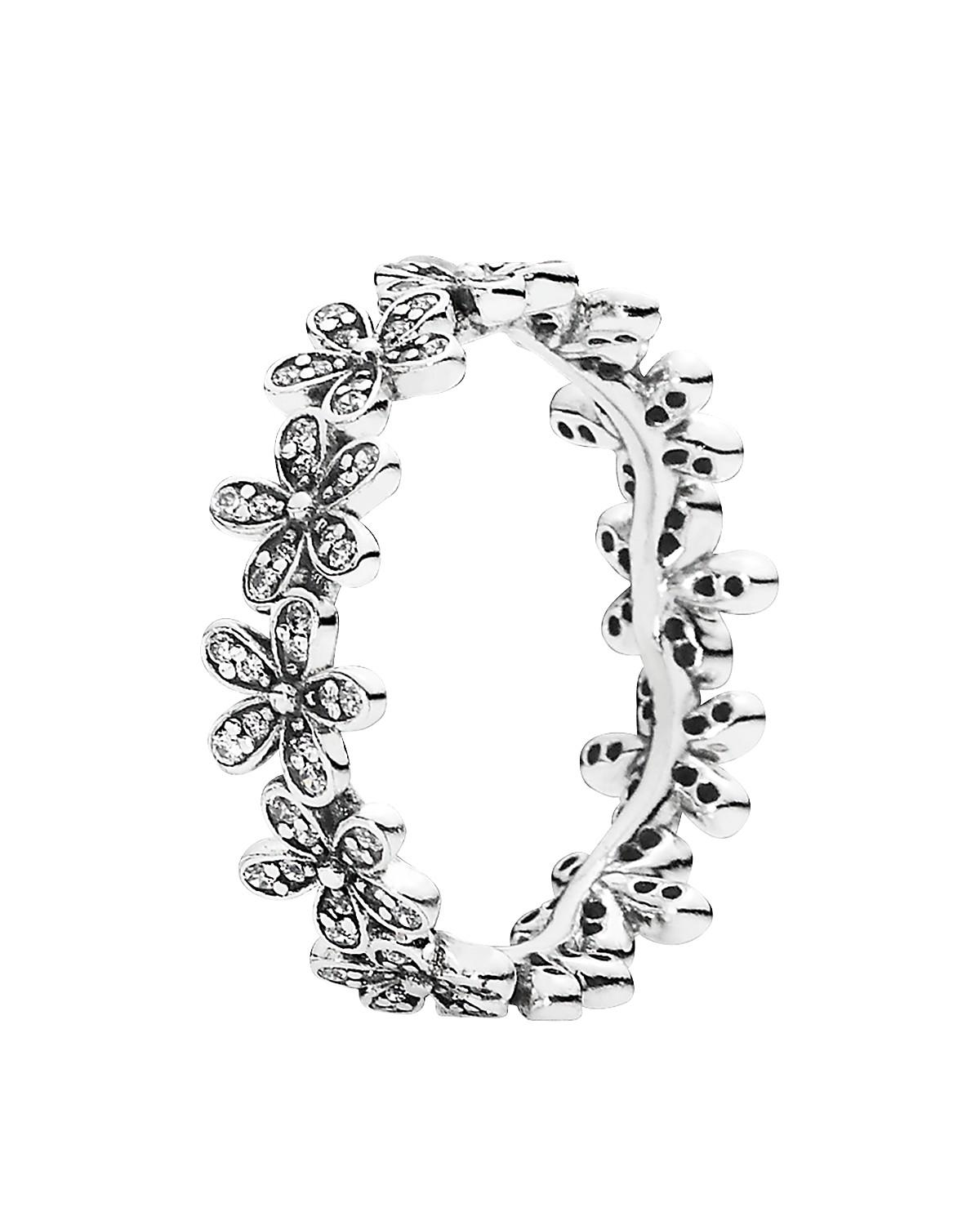 Pandora Ring Sterling Silver Amp Cubic From Bloomingdale S
